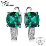 JewelryPalace Nano Russian Created Emerald Engagement <b>Wedding</b> Earrings Clip 925 Sterling Silver <b>Jewelry</b> For Women Design Fashion