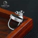 Lotus Fun Real 925 <b>Sterling</b> <b>Silver</b> Natural Original Handmade Designer Fine <b>Jewelry</b> Vintage Flower Bud Rings for Women Bijoux