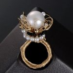 hot natural pearl ring for women classic fine hand <b>jewelry</b> new material 14k gold wrapping <b>silver</b> fashion wedding engagement ring