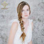 TREAZY <b>Handmade</b> Freshwater Pearl Hair Band Wedding Hair <b>Jewelry</b> Accessories 1 Meter Bridal Long Headbands Elegant Veil <b>Jewelry</b>