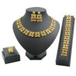Charm Bride Luxury Wedding 24 Gold <b>Jewelry</b> Sets Crystal Necklace Bracelet Earrings Fine <b>Handmade</b> <b>Jewelry</b> Party Gift Jewellery