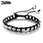 ZABRA Real 925 <b>Silver</b> <b>Bracelet</b> Men Vintage Skull Rope Mens <b>Bracelets</b> For Women Handmade Sterling <b>Silver</b> Jewelry
