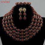 2017 MOON GIRL NEW acrylic beads <b>making</b> choker african Nigeria Wedding beads <b>jewelry</b> set statement necklace sets for women GB401