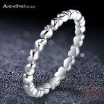 ANFASNI 100% S925 Sterling <b>Antique</b> Silver Ring Love Heart Silver Wedding&Engagement Rings <b>Jewelry</b> For Women PSRI0003-B