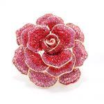 Red Rhinestone Crystal Rose Flower Wedding Bridal Brooch Pin Broach For Woman <b>Jewelry</b> <b>Accessories</b> FA5066RED