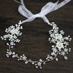 <b>Handmade</b> bridal headpiece flower crystal headband wedding hair accessories silver head <b>jewelry</b> tiaras and crowns hair ornaments