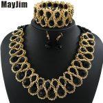 MayJim Statement necklace 2017 fashion <b>jewelry</b> sets <b>Handmade</b> beads chain crystal dubai <b>jewelry</b> sets Vintage Bijoux Accessories