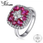 JewelryPalace Cushion 2.6ct Created Red Ruby Solitaire Engagement Ring 925 Sterling <b>Silver</b> Ring Fashion Design Fine <b>Jewelry</b>