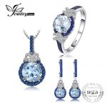 JewelryPalace Fine 5ct Sky Blue Topaz Created Blue Spinel Dangle Earrings Pendant Necklace Ring <b>Jewelry</b> Sets 925 <b>Sterling</b> <b>Silver</b>