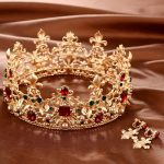 Baroque Retro Luxury Pearl Crystal Gold Crown Bridal Wedding <b>Jewelry</b> Rhinestone Tiaras Crowns Pageant Dress Hair Accessories