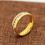 JHNBY High quality Gold-color ring vintage classic Engagement zircon bling rings for lovers' bague bijouterie <b>accessorie</b> <b>jewelry</b>