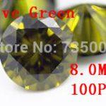 MRHUANG <b>Jewelry</b> <b>Supplies</b> AAA Grade CZ Cubic Zirconia Olive Green Round Zircon 8.0MM DIY <b>Jewelry</b> Findings <b>Supplies</b> Free Shipping