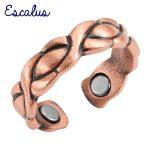 Escalus Ladies <b>Antique</b> Copper Trendy Eye Pattern Magnetic Women Ring Resizable Female Magnets fashion <b>Jewelry</b>