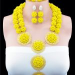 2016 New Arrival Nigerian Wedding <b>Jewelry</b> Sets Crytal <b>Handmade</b> Ball African Beads <b>Jewelry</b> Set For Bride And Bridesmaid