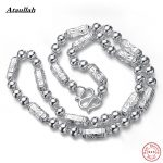 51g 8MM 61CM Men <b>Necklace</b> Solid Pure 925 Sterling <b>Silver</b> Fashion Statement <b>Necklace</b> Fine <b>Silver</b> Jewelry for Men Ataullah NWP429