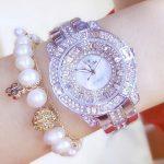 Luxury Women Rhinestone Watches Lady Crystal Dress Watch Stainless Steel <b>Silver</b> <b>Bracelet</b> Wristwatch Ladies Square diamond Watch