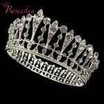 Romantic Pageant Beauty Contest Queen King crown Full Round Crystal Rhinestone <b>Wedding</b> Tiara Crown Hair <b>Jewelry</b> RE3015