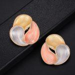 GODKI Luxury Geometry Leaf Tai Chi Design Cubic Zirconia American <b>Wedding</b> Party Earring <b>Jewelry</b> for Women High <b>Jewelry</b>