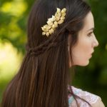 Jonnafe Rose Gold Leaf Hair Comb Wedding Headwear Vintage Bridal Hair <b>Jewelry</b> Combs Accessories Handmade Women Hairwear