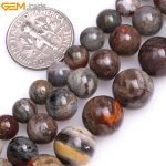 """Gem-inside 6-10mm Natural Round Gray Morocco Red Lace Agates Beads For <b>Jewelry</b> <b>Making</b> Bracelet Necklace 15"""" DIY Jewellery Gift"""