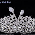 H-Quality Austrian Crystals Drop Zircon Leaf Flower Tiara Crown For Wedding <b>Jewelry</b> Bridal Hair Acessories Pageant Prom SHA8689