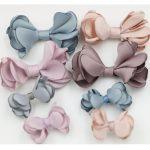 Wholesale 50PCs <b>Handmade</b> Chiffon Fabric Ribbon Knot Bows Craft Fit Girls Hair <b>Jewelry</b> DIY Garment Shoes Clips Decoration 2 Sizes