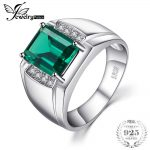 Jewelrypalace Men Luxury 2.7ct Created Emerald Anniversary Wedding Ring Genuine 925 Sterling Sliver <b>Jewelry</b>