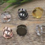 50pcs 20mm Crown Pad ring blank Cameo Tray,Bronze/Gold/Silver Ring setting,<b>Handmade</b> DIY Zakka <b>jewelry</b> Finding