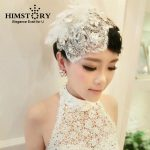 HIMSTORY <b>Handmade</b> Bridal Wedding Fedoras Hair <b>Jewelry</b> Beads Lace Flower Tassel Headpieces Wedding Accessories Beautiful Headwear
