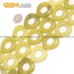Natural Lemon Jades Stone Beads Ring Oval Flat Square Rhombus Heart Natural Stone Beads <b>Jewelry</b> Jewellery <b>Making</b> Diy Bracelet