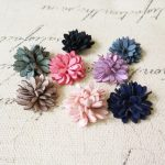 Wholesale Price 40PCs 25MM Suede Cord Fabric Daisy Flowers Flatback Handmade DIY <b>Jewelry</b> Floral Button Patch Sticker for Decor