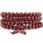 108*6mm Genuine rift grain Red Sandalwood Beads Buddha Malas <b>Bracelet</b> Healthy Jewelry Man Wrist Mala Ne*klace Factory