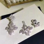 Brand Pure 925 Sterling Silver <b>Jewelry</b> For Women Rose Flower Earrings special Luck Flower Design <b>Wedding</b> Party Earrings