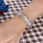 Bella <b>Fashion</b> Luxury Clear Couple Panther Leopard Bangle Cubic Zircon Animal Bangle For Women Party <b>Jewelry</b> Gift