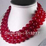 Beautiful style red chalcedony jades beads stone 10mm newly round beads diy Necklace <b>making</b> 50″ MY4507