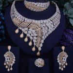 GODKI New Luxury Women Nigerian Wedding Naija Bride Cubic Zirconia <b>Necklace</b> Dubai 4PCS <b>Jewelry</b> Set Jewellery Addiction