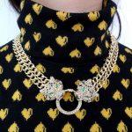 Bella Fashion Duel Panther Leopard Choker <b>Necklace</b> Austrian Crystal Rhinestone Animal <b>Necklace</b> For Women Party <b>Jewelry</b> Gift
