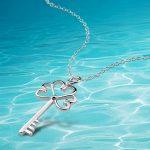 925 sterling silver key pendant necklace, exquisite <b>jewelry</b> key necklace. fashion <b>accessories</b>,women <b>jewelry</b>.