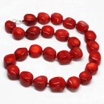 Natural red coral lovely stone 10-15mm Bohemia irregular beads hot sale chain necklace <b>jewelry</b> <b>making</b> 19inch MY3369