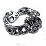 Chain & Link Bracelets <b>sterling</b> 925 <b>silver</b> vintage <b>jewelry</b> thai <b>silver</b> retro hip-hop motor engine big thick cross bracelet