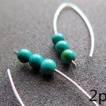 2pcs Modern Earrings handmade 925 Sterling blue or green color in eco friendly <b>Fashion</b> <b>Jewelry</b> gift for women wedding