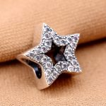 925 Sterling Silver Crystal STARS Beads fit DIY Bracelets & Bangle Charm DIY <b>Jewelry</b> <b>Making</b>