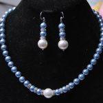 Women Gift word Love women Fashion <b>Jewelry</b> 8-12MM Blue Sea Shell Pearl Necklace + Pearl Earring Beads Fashion <b>Jewelry</b> Set <b>Making</b>