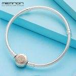 Memnon 925 Sterling <b>Silver</b> Two Tone Clasp with 14K gold Snake <b>Bracelets</b> for Women Fit Charms Beads Diy Fine Jewelry YL036