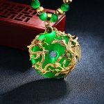 Mens women' opals Necklaces Dragon and Phoenix Pendant Necklace Men Vintage Punk Bike <b>Jewelry</b> <b>Accessories</b>