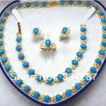 Selling Jewelry>>>Beautiful Turquoises Necklace/<b>Bracelet</b>/Ring/Earring Set
