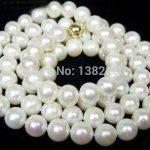 Wholesale!8mm White shell necklace 34 inch DIY women Beautiful fashion <b>jewelry</b> <b>making</b> design