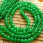 natural beads Tibetan <b>handmade</b> <b>jewelry</b> Tibet Buddhist 108 Green stone Beads Prayer Mala Necklace silver