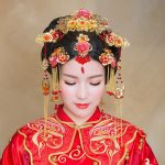 bride suits Chinese headdress red tassel Costume <b>wedding</b> hair Accessories cheongsam show Chinese tiara bridal hair <b>jewelry</b>