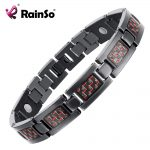 Rainso Bio Energy Health Titanium Bracelet Bangle Red Plated Magnetic Health Care Bracelet For Men <b>Jewelry</b> 2018 <b>Fashion</b>